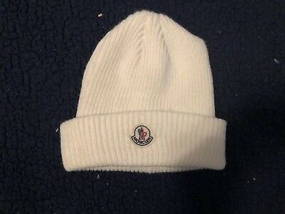 WHITE MONCLER KNITTED Beanie Hat -  80.00  8e99003f142