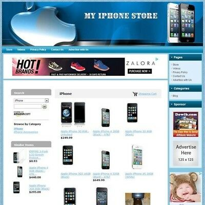IPHONE STORE - Professionally Designed & Fully Functional Affiliate Website HOT!
