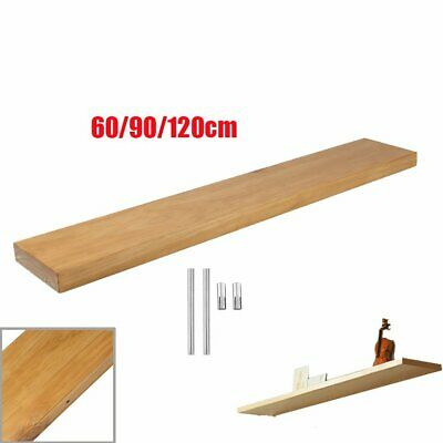 Oak Floating Shelf Rustic Pine Wooden Book Shelves Mantle 20M Wide 5M Thickness