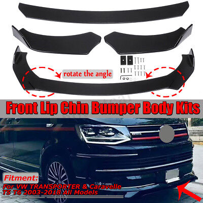 For Vw Transporter T5 T6 Lower Sportline Front Splitter Spoiler Bumper Lip Addon