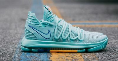9a9bba1d2ca3 New Nike Zoom KD10 Size 11.5 Hyper Turquoise Blue 897815 300 MRSP  150