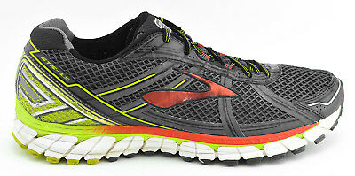buy online c698f b0f6c MENS BROOKS ADRENALINE Gts 15 Running Shoes Size 12 Us 46 Eu Gray Red Lime  Green
