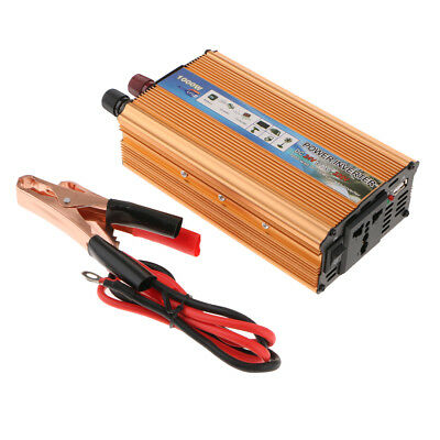 Lovoski Car Solar Power Inverter USB 1000W DC24V to AC220V Charger Converter