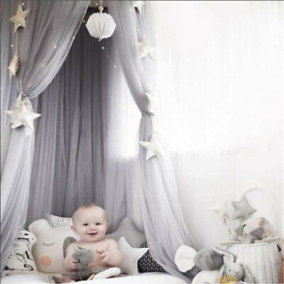 Round Lace Insect Bed Canopy Netting Baby Kid Curtain Dome Mosquito Net Elegant