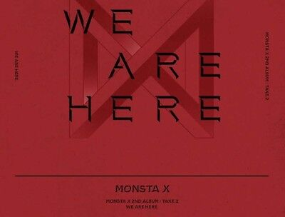 MONSTA X WE ARE HERE 2nd Album TAKE.2(Random)+P.Book+P.Card+Gift K-POP