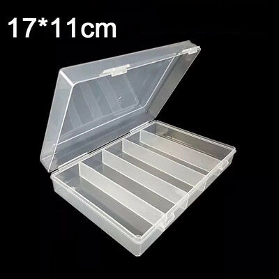100Pcs Clear Round Coin Cases Capsules Container Holder Storage Box Plastic New