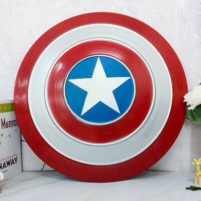 """18.7"""" Marvel Avengers Captain America Metal Shield Wall Hanging Painting Decor"""