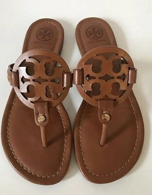 05ca3d8f6 Tory Burch Miller Sandals Vintage Vachetta leather Brown size 6.5  210+