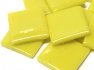 Yellow Gloss Glass Mosaic Tiles 2.5cm - Art Craft Supplies