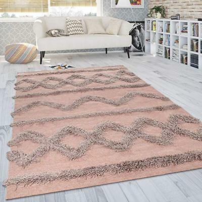 Luxurious Pink Shaggy Rug Deep Pile Fluffy Home Carpet Thick Soft Cosy Large Mat