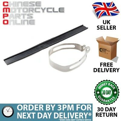 Lextek Stainless Steel Exhaust Silencer Strap for Piaggio MP3 500 (07-16) (#16)