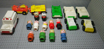 Lot Little People Vintage - Personnages + Véhicules - Fisher Price