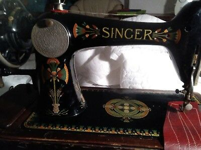 Singer 66K Lotus Hand Crank  Working,see It Sewing On Youtube