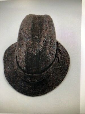 Wool Harris Tweed Hat Made 100 % Scottish Wool Hat Size 7 1 8 PREOWNED 7de60eb8a161