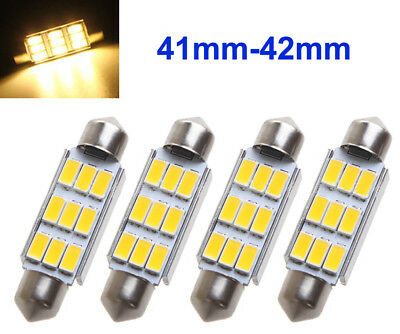 4x Warmweiß 42mm 5630 SMD 9LED Soffitte Sofitte CANBUS Innra Lampe Deutsche Post
