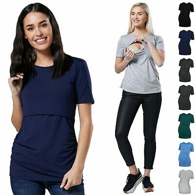 150p Women/'s Nursing Double Layer Top Colour Block Design Pregnancy Zeta Ville