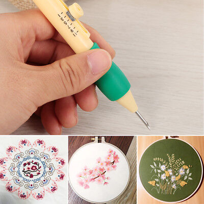 Punch Craft Sewing Tool Embroidery Pen Set Plastic DIY Threaders Needles Magic