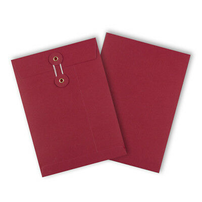 RED Color String & Washer Bottom-Tie Envelopes C5 Size Cheap & Fast Delivery