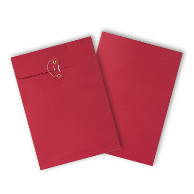 RED Color String & Washer Bottom-Tie Envelopes C4 Size Cheap & Fast Delivery
