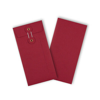 Strong String & Washer Bottom-Tie Storage Envelopes Red - DL Sizes - Cheap
