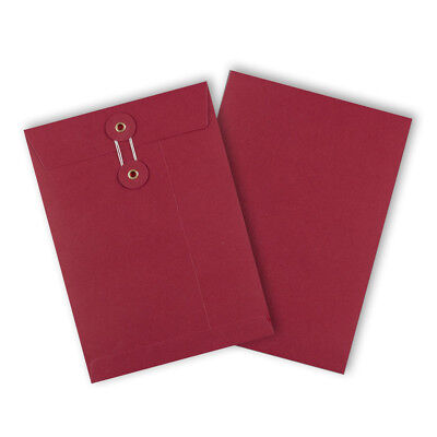 Strong String & Washer Bottom-Tie Storage Envelopes Red - A5/C5 Sizes - Cheap