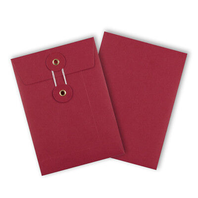 Strong String & Washer Storage Envelopes Red Color C6 Size [ All Type & Qty's]