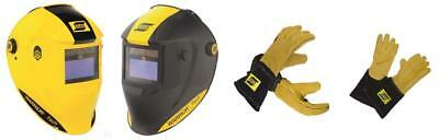 ESAB Warrior Tech Auto Darkening Welding Helmet C/W ESAB Gloves