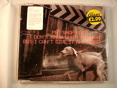 CD Single (B7) - Pet Shop Boys – I Don't Know What You Want - 8874802
