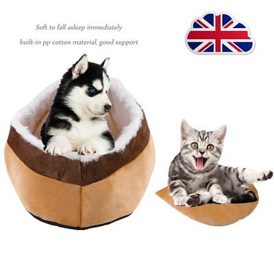 Deluxe Washable Cat Kitten Pet Bed Igloo House Cave Dog Puppy Sleeping Snug S/L