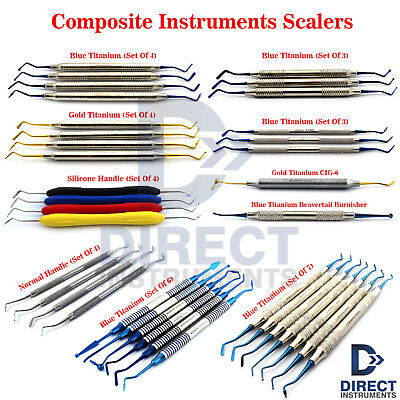 MEDENTRA Range of Dental Composite Filling Instruments Kit Restoration Placement