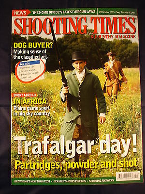 Shooting Times - 20th Oct 2005 - Trafalgar day