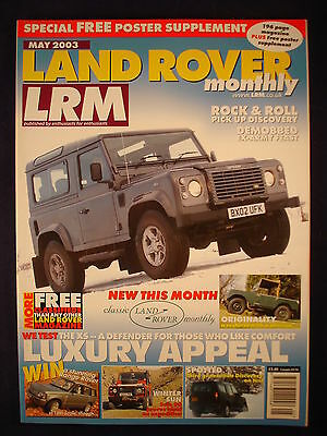 Land Rover Monthly LRM # May 2003 - Defender XS - Ex army feast
