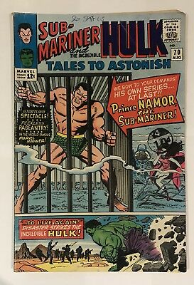 TALES TO ASTONISH #70, SUB-MARINER/INCREDIBLE HULK - Silver Age Marvel
