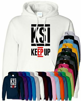 KSI Keep Up Kids Hoodie Gaming Youtuber Boys VLogger Pullover Top Girls Hoody