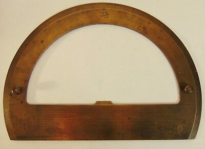 USSR protractor geophysics brass, protractor, ruler angle, vintage