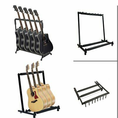 New 3-5 Way Multi Folding Guitar Rack Stand by Chord For Electric Bass Acoustic