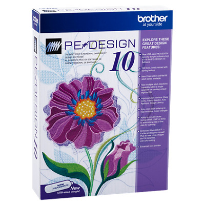 Brother PE Design 10.20 Machine Digitizing Embroidery Program Full Version