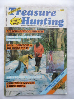 Treasure hunting Magazine - January 1984 - contents shown in photographs