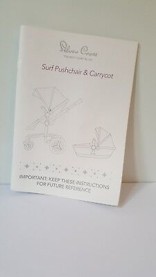 Instruction Manual booklet for Silver Cross Surf pushchair