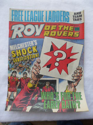 Roy of the Rovers football comic - 12 September 1987 - Birthday gift?