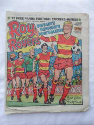 Roy of the Rovers football comic - 8 February 1986  Birthday gift?