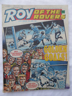 Roy of the Rovers football comic - 25 July 1987 - Birthday gift?
