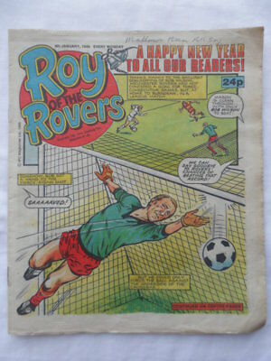 Roy of the Rovers football comic - 4 January 1986  Birthday gift?