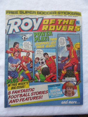 Roy of the Rovers football comic - 20 September 1986 -  Birthday gift?