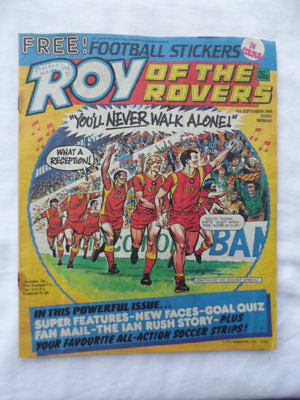Roy of the Rovers football comic - 6 September 1986 -  Birthday gift?