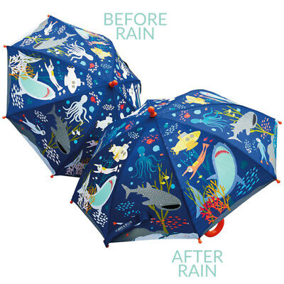 Colour Changing Childrens Umbrella - Deep Sea