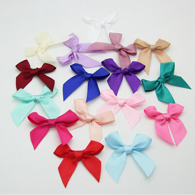 15/50/100pcs Big Satin Ribbon Bows Flower DIY Craft Wedding Appliques 1.96""