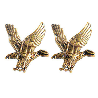 85c74c66d67 2Pcs Trendy Soaring American Hawk Brooch Antique Gold Eagle Lapel Pin Gift