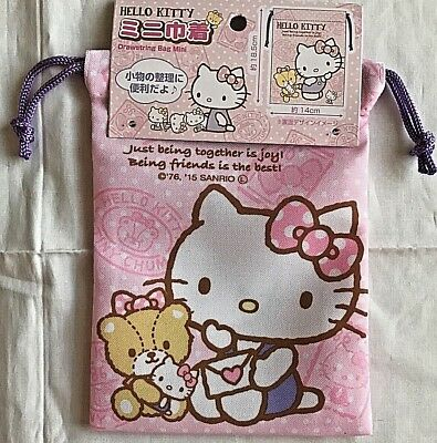 d17628b7a SANRIO HELLO KITTY Character Canvas Pouch Cosmetic Makeup Case Bag ...