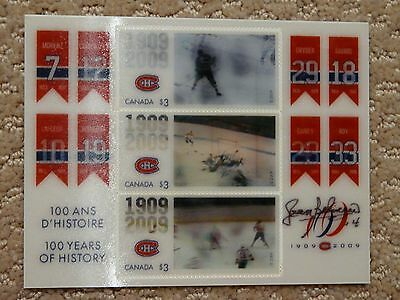 Jean Beliveau Montreal Canadiens Autographed Canada Post Stamp card 500 Goals